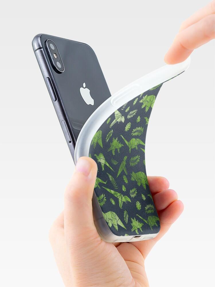 Vista alternativa de Funda y vinilo para iPhone Patrón de dinosaurios de origami