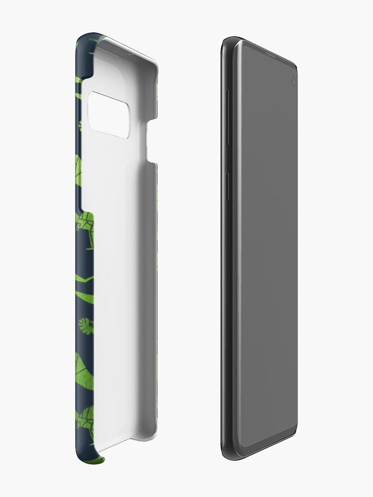 Vista alternativa de Funda y vinilo para Samsung Galaxy Patrón de dinosaurios de origami