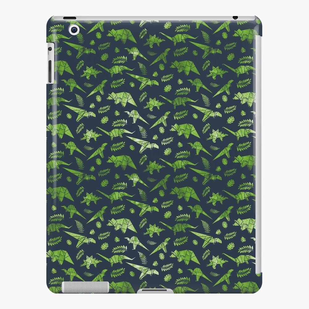 Patrón de dinosaurios de origami Funda y vinilo para iPad