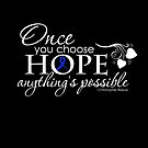 Colon cancer inspirational quote 'Hope'  by tinymystic