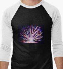Sea Coral - Neon Baseball ¾ Sleeve T-Shirt