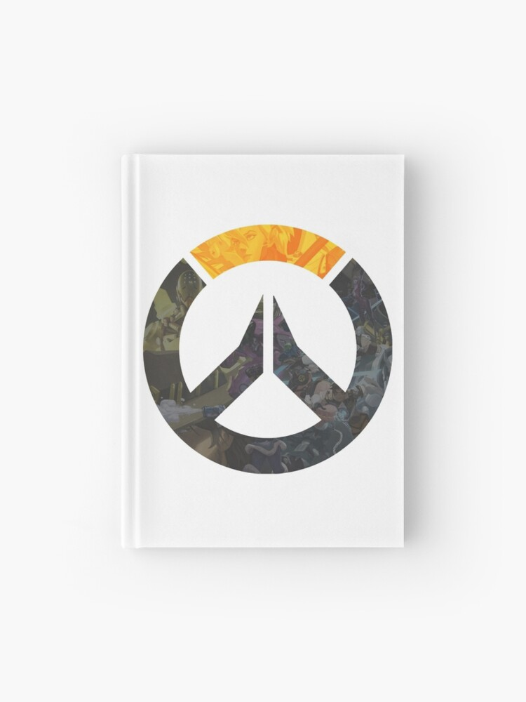 "OW Logo - Character Art"" Hardcover Journal by salmondip 