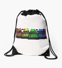 Dalek and Proud Drawstring Bag
