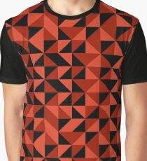 Red Triangle Pattern Graphic T-Shirt