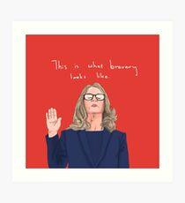 Lámina artística Dr. Christine Blasey Ford - La valentía