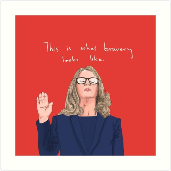 Dr. Christine Blasey Ford - Bravery by manybothans