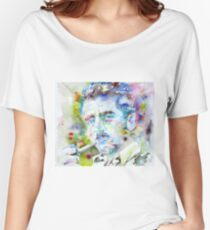 WILLIAM FAULKNER - watercolor portrait.3 Women's Relaxed Fit T-Shirt