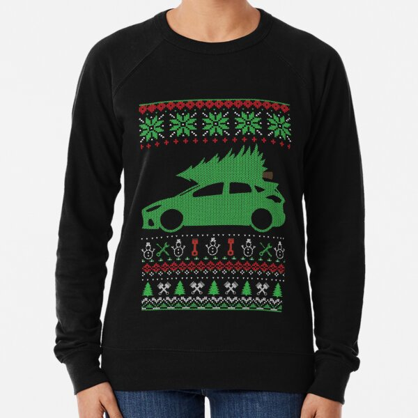 Focus ST RS 3 MK3 Christmas Ugly Sweater XMAS Lightweight Sweatshirt