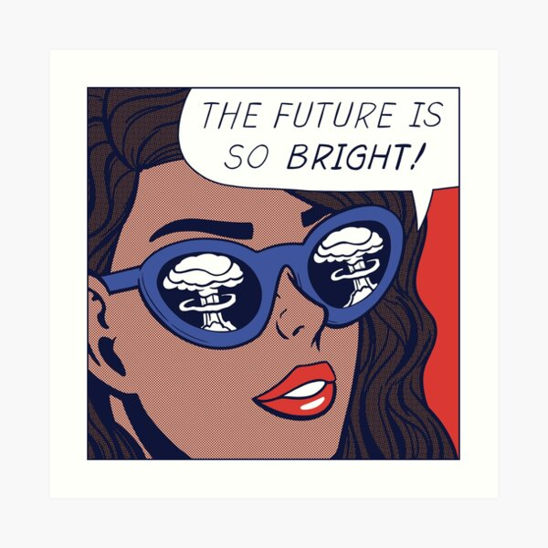 Pop Optimism Girl Art Print