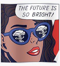 Pop-Optimismus-Mädchen Poster