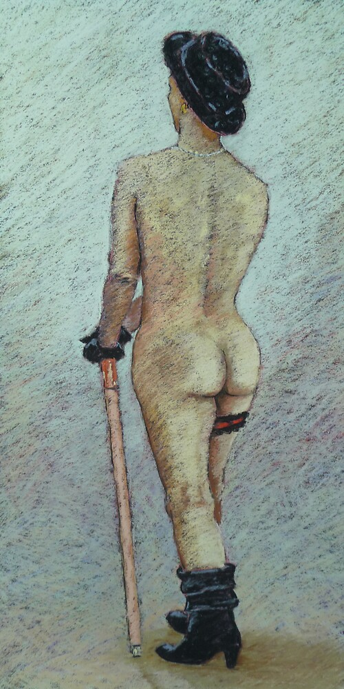 Life study in black cap, glove and boots by Mick Kupresanin