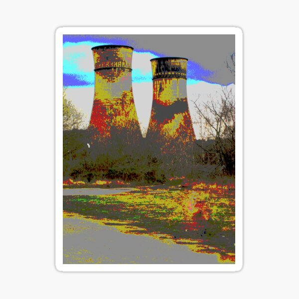 Tinsley Cooling Towers Warhol style Sticker