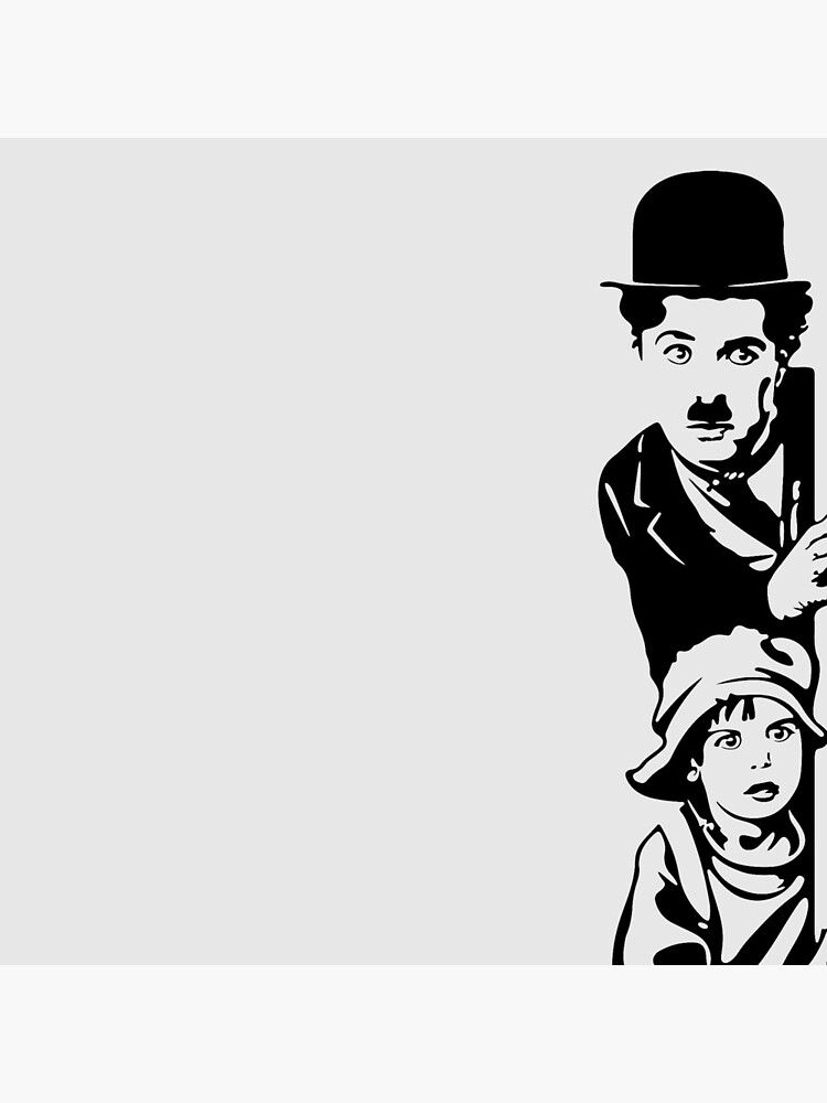 Charlie Chaplin The Kid 1921, Poster Artwork Design by clothorama