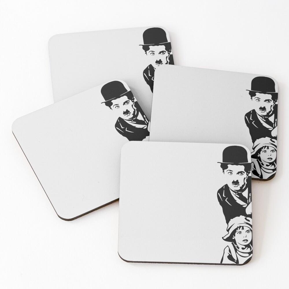 Charlie Chaplin The Kid 1921, Poster Artwork Design Coasters (Set of 4)