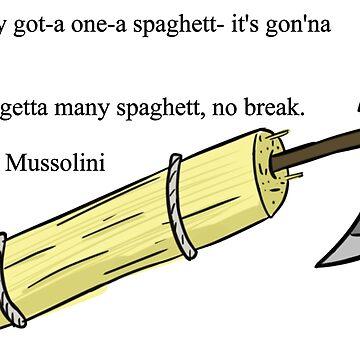 Fascist Spaghetti by myshirtisgreen