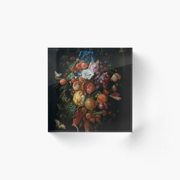 "Jan Davidsz. de Heem ""Festoon of Fruit and Flowers"" Acrylic Block"