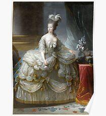 Marie-Antoinette reine de France - Anonyme, d'après Louise-Elisabeth Vigée Le Brun  Poster