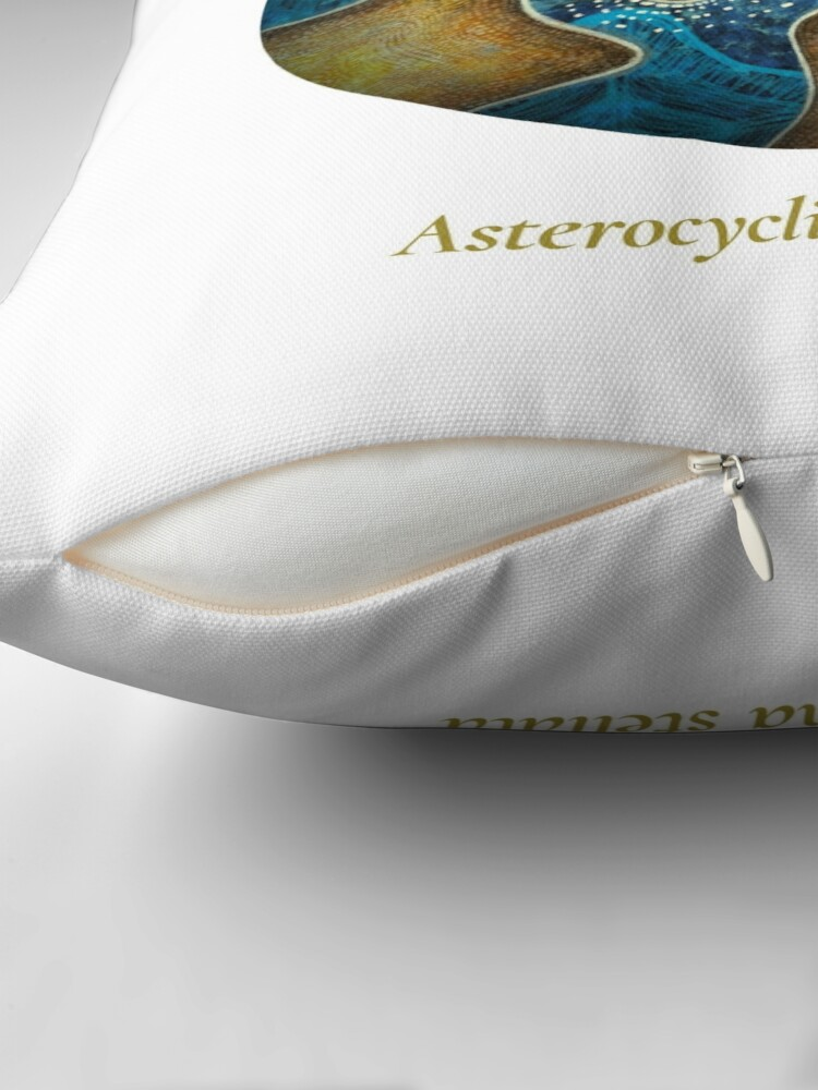 Alternate view of The Circles of Life: Asterocyclina stellata Throw Pillow