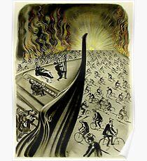 DER SCHIFF: Weinlese-abstrakter Dali-Konzert-Druck Poster