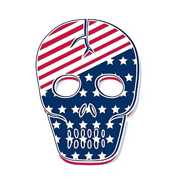 American USA Flag Patriotic Skull by CroDesign