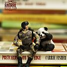 The 1:18 Animal Rescue Team - Panda on stack of books by Martine Carlsen