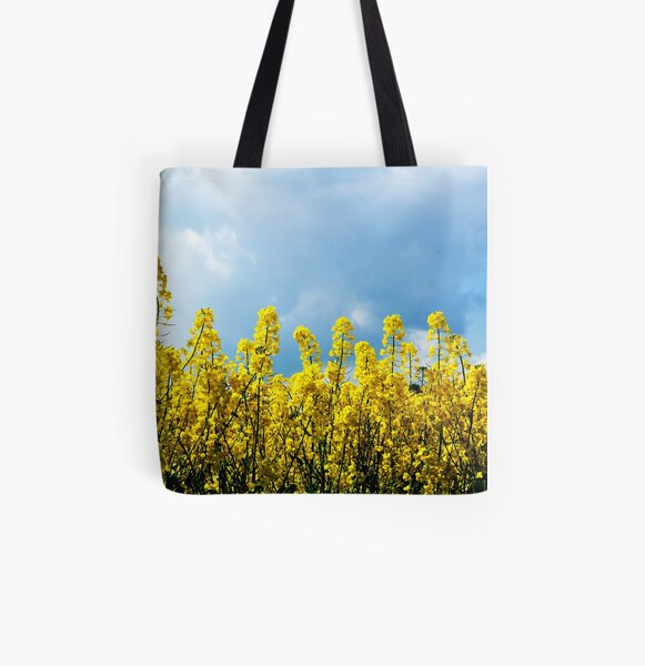 Yellow and Blue All Over Print Tote Bag