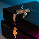 The 1:18 Animal Rescue Team - Cat on Pioneer Blu-ray Player by Martine Carlsen