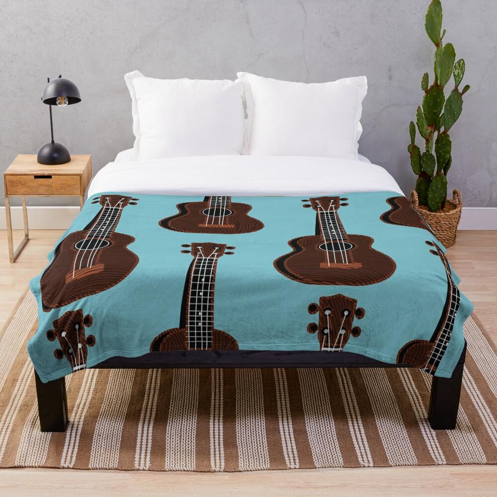 Ukulele Blues  Throw Blanket