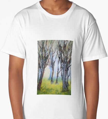 Daffodils as far as the eye can see Long T-Shirt