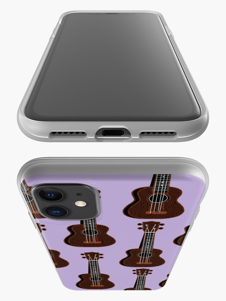 Alternate view of Ukulele Rains in Purple  iPhone Case & Cover