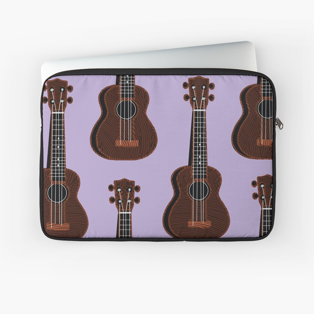 Ukulele Rains in Purple  Laptop Sleeve