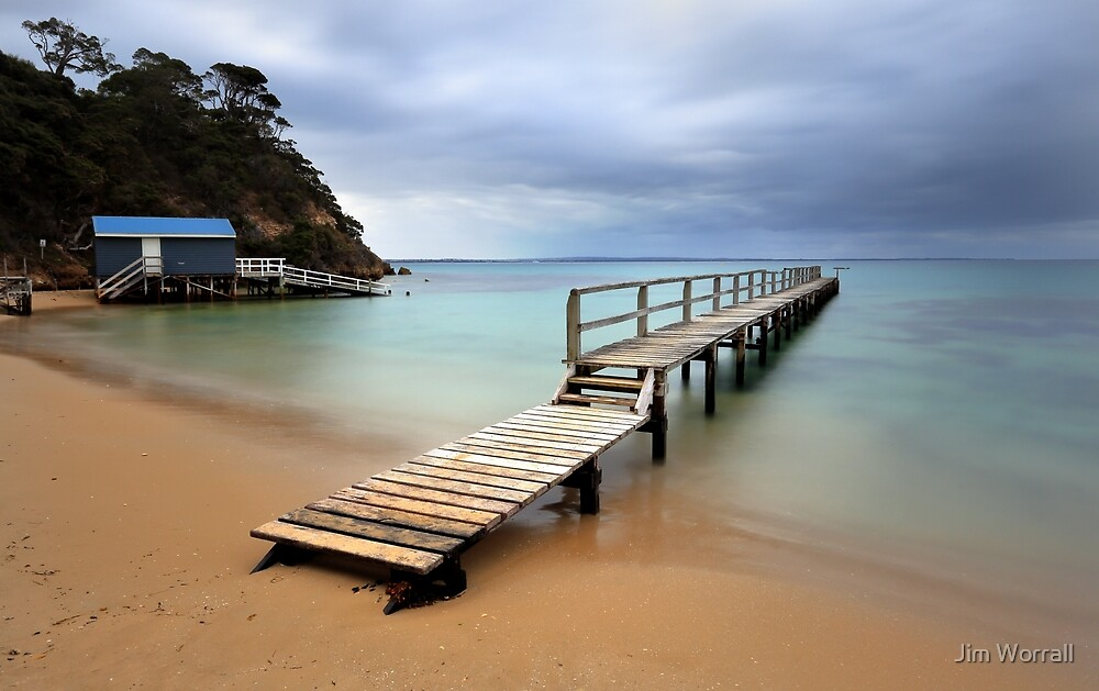 Shelley Beach Jetty - Portsea by Jim Worrall