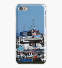 Fishing boat harbour iPhone Case/Skin