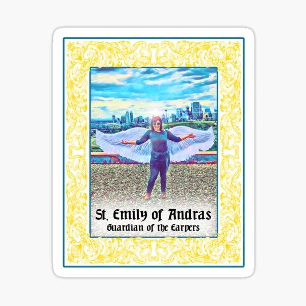 St. Emily Andras Sticker