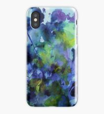 watercolor in purple and green iPhone Case
