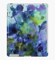 watercolor in purple and green iPad Case/Skin
