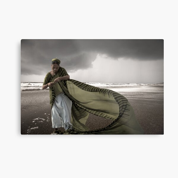 Sari in the wind Metal Print