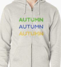 3 colorful vector autumn inscriptions. Zipped Hoodie