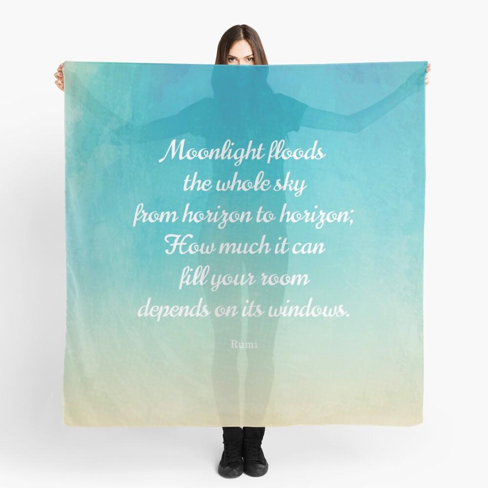 Mondschein - Schönes Zitat von Rumi Tuch