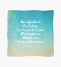 Moonlight - Beautiful Quote by Rumi Scarf