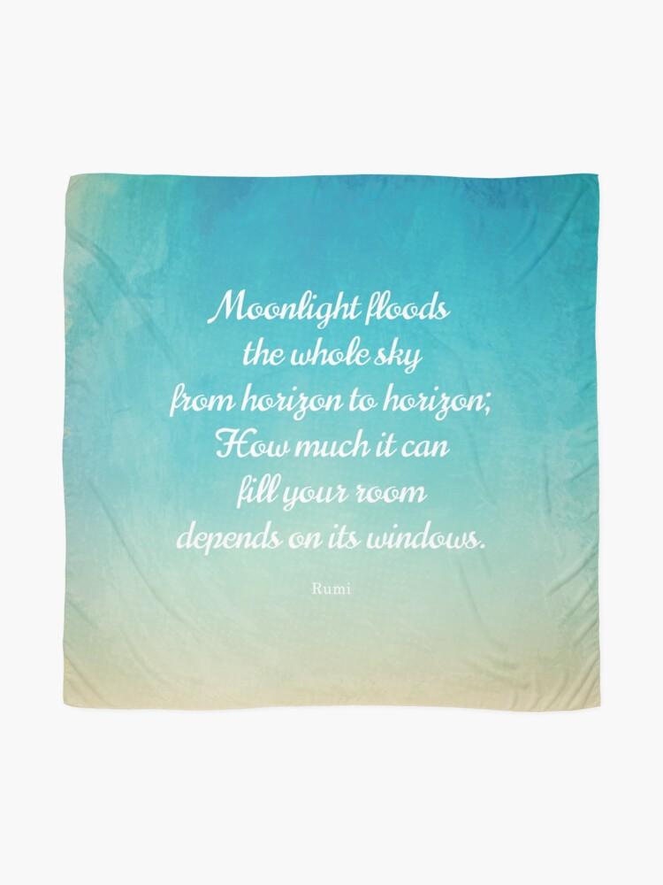 Alternative Ansicht von Mondschein - Schönes Zitat von Rumi Tuch
