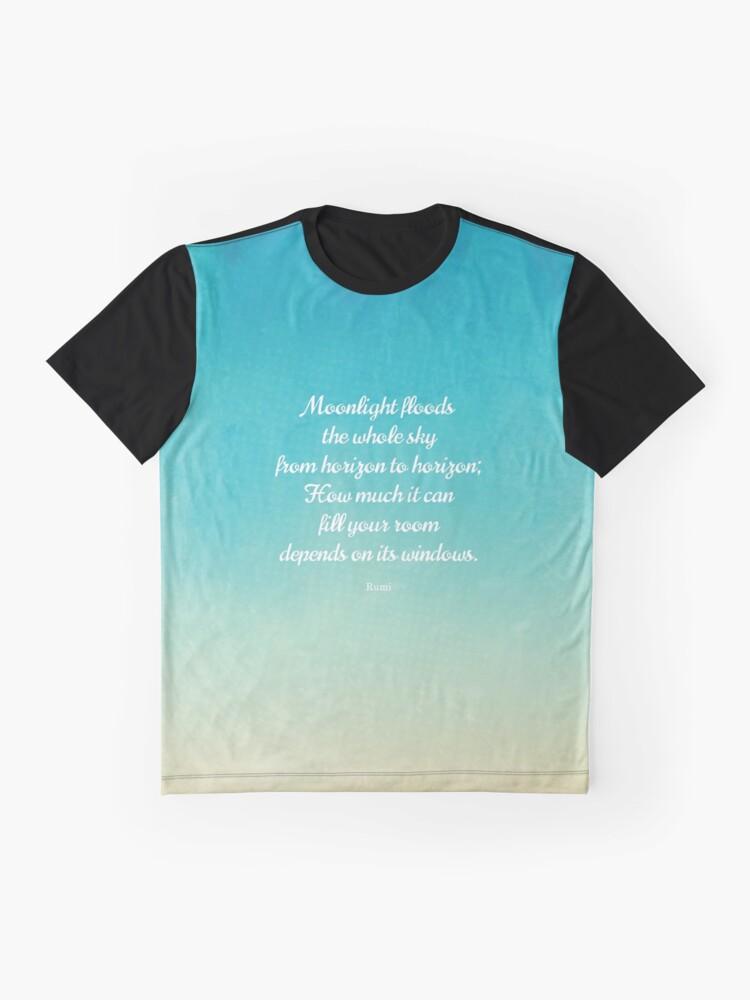 Alternative Ansicht von Mondschein - Schönes Zitat von Rumi Grafik T-Shirt