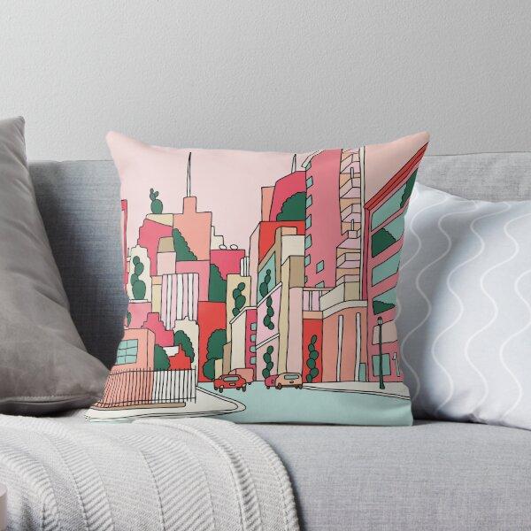 New York by Elebea Throw Pillow