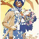 Autumn in Wiesbaden, Travel Poster by edsimoneit