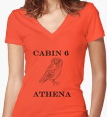 Camp Halfblood - Athena Cabin Women's Fitted V-Neck T-Shirt
