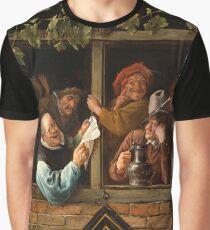 """Jan Steen """"Rhetoricians at a Window"""" Graphic T-Shirt"""