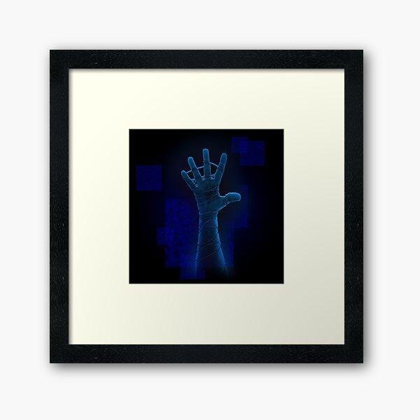 Neon Blue Reach Framed Art Print