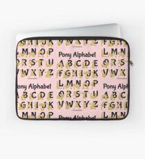 Pony Alphabet, Pink Laptop Sleeve