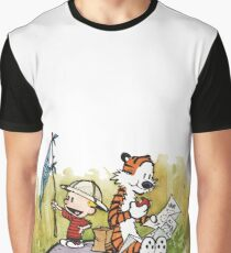 Exploring Calvin Hobbes Graphic T-Shirt