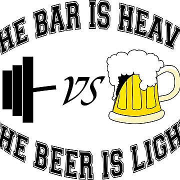 Barbell vs beer by igorsin